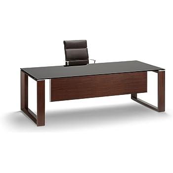 Schreibtisch mit Glasplatte ARCHE, Glasschreibtisch, Design ...