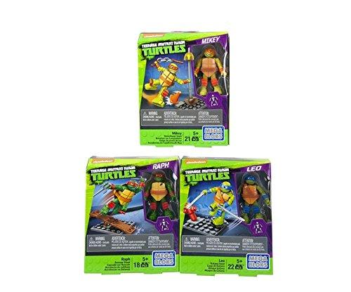 Mega Bloks DPW75-Teenage Mutant Ninja Turtles Training Classic Figuren 3´er Set