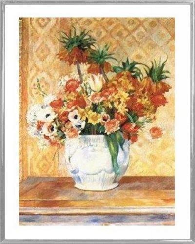 Pierre Auguste Renoir Poster Kunstdruck und Kunststoff-Rahmen - Nature Morte (50 x 40cm)