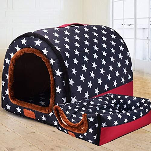 Preisvergleich Produktbild LouiseEvel215 Mode Arc House voll waschbar Haustier Zwinger kleine mittlere und große Hund tragbare Hundehütte