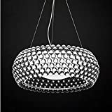 LQB Wojia Caboche Nordic Minimalist Restaurant Club Villa Zeus Sweat Kaposi Kugel Plasma Lampe Kronleuchter,Transparent 50cm