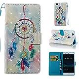 Lomogo [Huawei P9 Lite] Hülle Leder, Schutzhülle Brieftasche mit Kartenfach Klappbar Magnetverschluss Stoßfest Kratzfest Handyhülle Case für Huawei P9Lite - YIBO32365#7