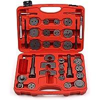 Femor 35 Stück Bremskolbenrücksteller Kolbenrücksteller-Set zum Zurückstellen des Bremskolbens bei Bremsscheiben-, Bremsbacken- oder Bremsbelag-Wechsel,Universell 35 teiliger KFZ-Werkzeug-Satz