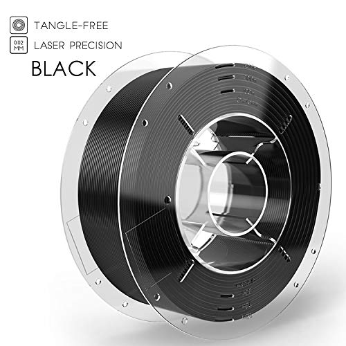 SainSmart PRO-3 - Filamento para impresora 3D (PLA, 1,75 mm, bobina de 1 kg), color negro