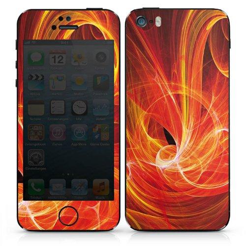 Apple iPhone 5s Case Skin Sticker aus Vinyl-Folie Aufkleber Glut Muster Hitze DesignSkins® glänzend
