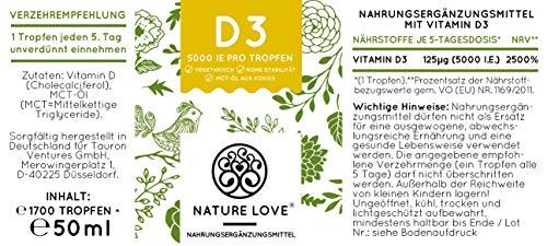 Der zweifache SIEGER 2017*: Vitamin D3 1000 I.E – 25 µg. Pflanzlich und vegan (50ml). Vitamin D3 (Cholecalciferol). Hoch bioverfügbares Vitamin D. Hochdosiert & hergestellt in Deutschland - 7