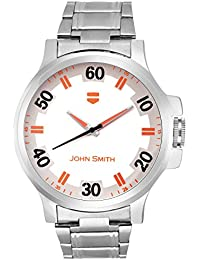 John Smith Orange & White Dial Metal Belt Analog Watch For Men - JS-10101OR_N