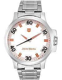 John Smith Orange & White Dial Metal Belt Analog Watch For Men - JS-10101OR_N