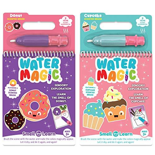 Scent Masters Water Magic - Riutilizzabile Water Reveal Coloring Book Bundle - Cupcake profumato e Ciambella