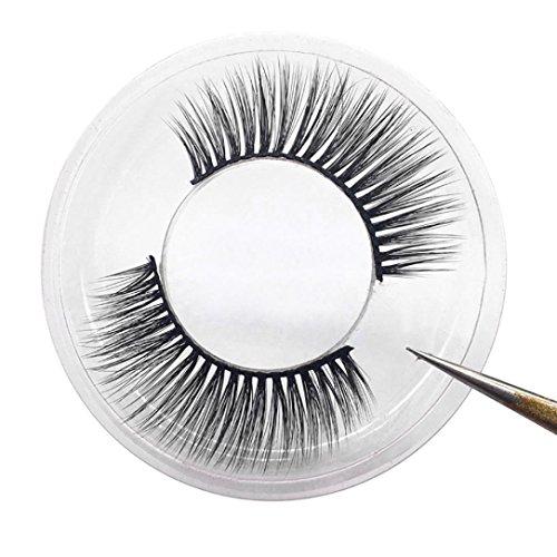 Faux-cils Ansenesna 1 Paire Luxe Cils Faux 3D Faux Cils Moelleux Naturel D'Oeil Cils Outil De Maquillage