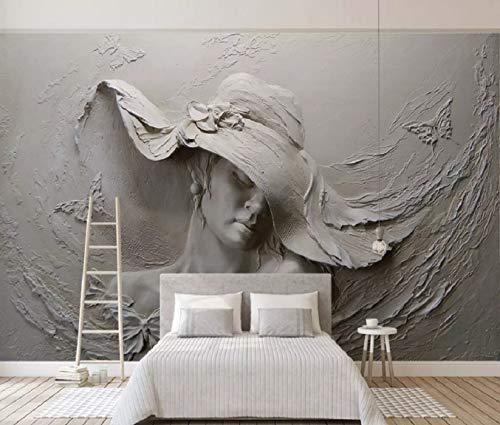 Fototapete 3D Effekt Vliestapete Dreidimensionales Relief Schönheit 3D Tapete Moderne Wanddeko Design Wandbilder -