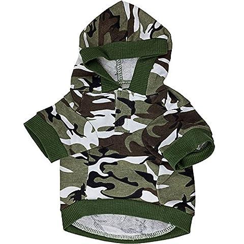 Hund Kleidung Pet Sweatshirt Camo Camouflage Mäntel Hoodies Kostüm Hunde Kleidung Mantel für kleine medium (Kleiner Hund Kostüme)