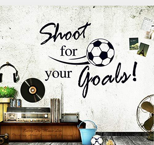 kdjshhs Wandaufkleber Fliegende Fußball Schießen Für Ihr Ziel Wandaufkleber Englisch Buchstaben Home Aufkleber Aufkleber Für Kinderzimmer Wohnzimmer Decor Mural -