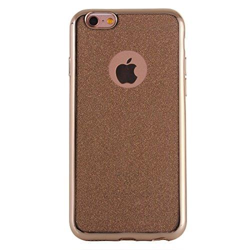 Für IPhone 6 / 6s, galvanisierender Blitz-Puder TPU schützender Fall DEXING ( Color : Grey ) Gold