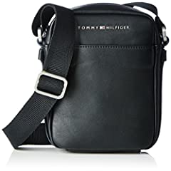 Idea Regalo - Tommy Hilfiger TH CITY MINI REPORTER, Sacchetto Uomo, Nero (Black), 6x24x29 cm (b x h x t)