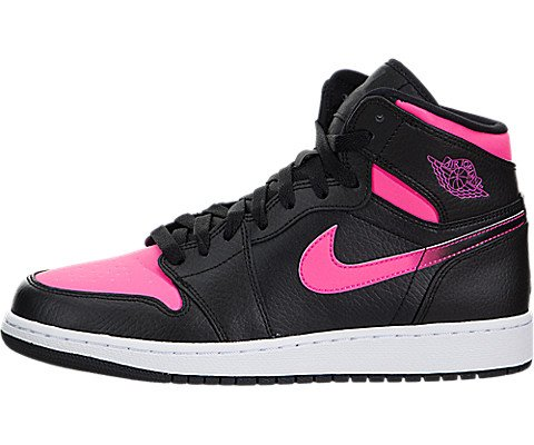 Nike Youth Air Jordan Retro High Black Pink Leather Trainers 40 EU (Nike High Heels Sneakers)