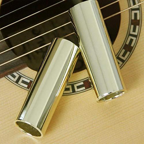 YSHTAN Gitarrenschieber für Orchesterinstrumente, 28-70 mm, Edelstahl, für Gitarre, Schieber und Fingerknöchel, Saiten, Zylinderrohr - Silber 70 mm 51 mm
