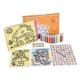 Eizur Enfants 12 Pots Colorés Sables Sablimage Tableaux De Sable Disperseur Loisirs créatifs Avec Valisette pour Filles