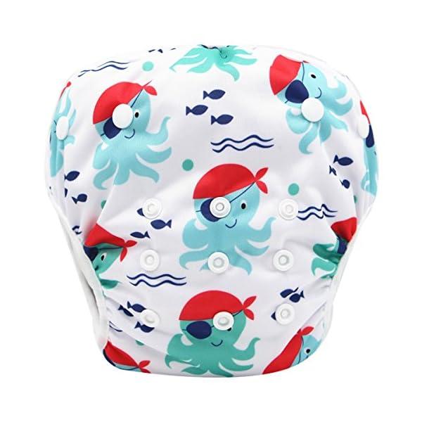Storeofbaby Pannolini da nuoto Baby pannolini riutilizzabili Cover impermeabile per 0-36 mesi Unisex Confezione da 2 2 spesavip