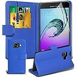 Gadget Giant® Samsung Galaxy A5 2016 (A510) PU Lederetui Buch-Stil Handy Hülle mit Displayschutz-Folie & Eingabestift - Blue Farbe