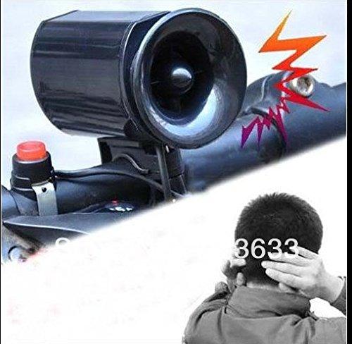 sprigy (TM) en stock en stock 2pcs/lot noir Vélo électronique sonnette d'alarme Sirène Corne Haut-parleur avec emballage
