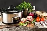 Electrolux ESC7400 Slow Cooker, Pentola Elettrica in Ceramica, capacità: 6.8 L, Argento
