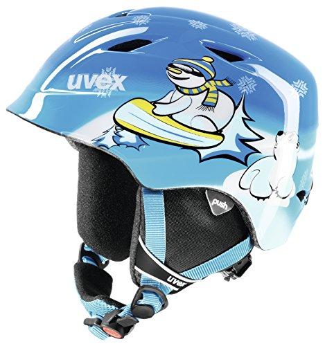 Uvex Kinder Skihelm Airwing 2, Blau Snowman, XXS/XXXS (48-52 cm)