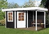 weka Designhaus 213 A Gr.1, 5-Eck, anthrazit, 28 mm, ET, F, Anbau 150 cm