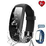 Chianruey Fitness Armband mit Herzfrequenz-Fitness Tracker Pulsuhr Aktivitätstracker mit Schlafüberwachung,Wasserdicht Bluetooth Fitness Armbanduhr mit Schrittzähler Kalorienzähler F¨¹r Damen/Herren