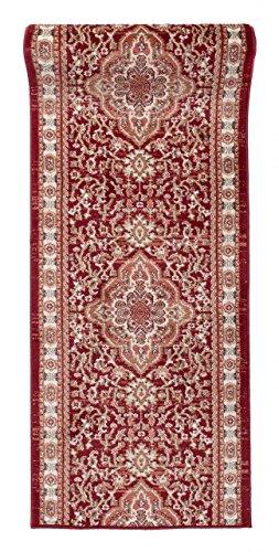 WE LOVE RUGS CARPETO Läufer Teppich Flur in Rot - Orientalisch Klassischer Muster - Brücke Läuferteppich nach Maß - 80 cm Breit - AYLA Kollektion von Carpeto - 80 x 150 cm
