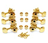 3+3 Gold Tuning Pegs Tuners Machine Heads Acoustic Butterbean Guitar Wilkinson