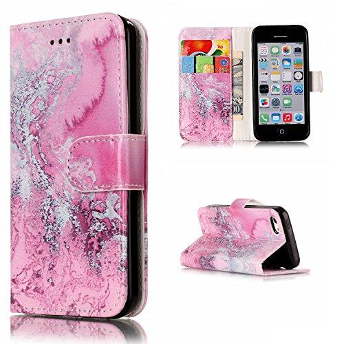 Qiaogle Telefon Case - PU Leder Wallet Schutzhülle Case für Apple iPhone 7 (4.7 Zoll) - YH74 / Traumfänger YH79 / Rose