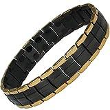 MPS Titan magnetische Armband für Männer mit Klappschließe, 2 Magnete in Jedem Link - Mit Einer Kostenlosen Tool, um Links zu entfernen
