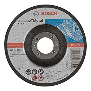 Bosch 2 608 603 159 – Disco de corte acodado Standard for Metal – A 30 S BF, 115 mm, 22,23 mm, 2,5 mm (pack de 1)