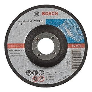 Bosch 2 608 603 159 – Disco de corte acodado Standard for Metal – A 30 S BF, 115 mm, 22,23 mm, 2,5 mm (pack de 1)