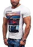 GLO STORY Hombre Camiseta Manga Corta 7453