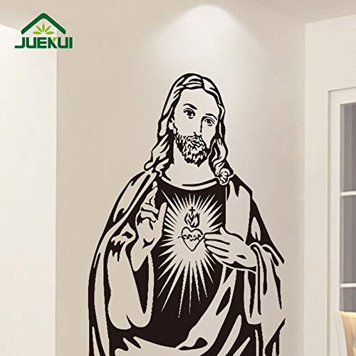 ljradj Persönlichkeit Kreative Avatar Statue Christus Jesus Gott Glaube Wandaufkleber Für Wohnzimmer Vinyl Abnehmbare Wandtattoos gelb 56X75 cm (Polizei-statue)