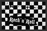 Empire Merchandising 623294 Checkered Rock n Roll, Fussmatte, Grö�e 60 x 40 cm, Material Polypropylen by Empire Intera