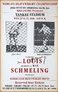 Joe Louis VS Max Schmeling 1938Reproduction photo affiche 40,6x 30,5cm Promo de boxe