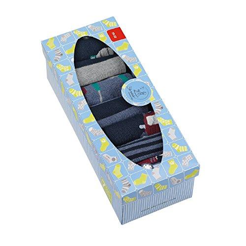 Sterntaler Baby-Jungen 8421850-Söckchen 7er-Box Socken, Blau (Marine 300), 17-18