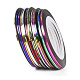 Five Season 18pcs Mixed Colors Rolls Striping Tape Line Nail Art Tips Decoration Sticker