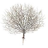 D DOLITY Deko Künstliche Zweige Blätterzweig Basteln Floristik Ornament für Wohnzimmer - Kaffee