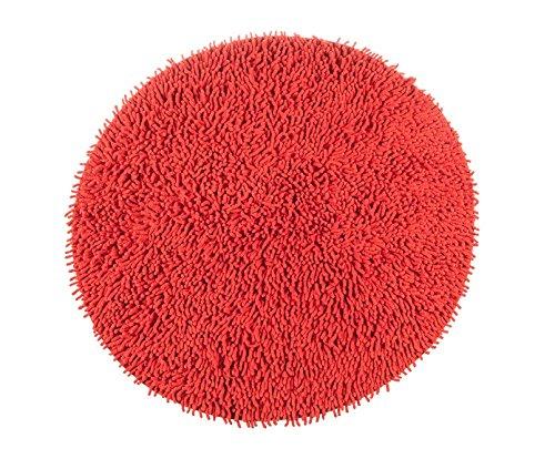 Alfombrista Gloria Alfombra, Algodón, Rojo, Redonda 70 cm. Diámetro