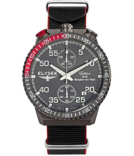 Elysee Reloj los Mujeres GRAF Berghe Von Trips Rally Timer I Cronógrafo 80517N