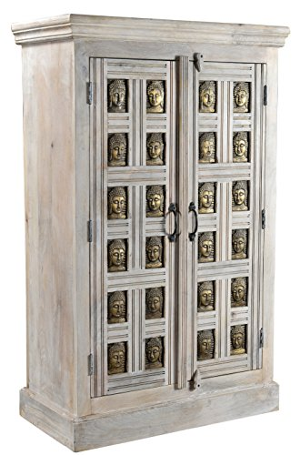 The Wood Times Kommode Highboard Schrank Massiv Vintage Look Buddha Mangoholz, FSC Reycelt, BxHxT 85x138x45 cm