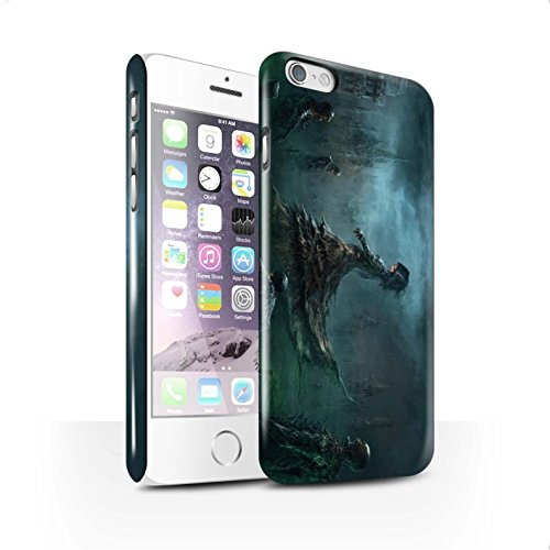 Offiziell Chris Cold Hülle / Glanz Snap-On Case für Apple iPhone 6 / Schatten Ritter Muster / Unterwelt Kollektion Banshee/Hexe-Königin