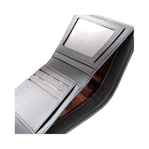 Yvonnelee Donne Della Signora Frizione Lungo Della Borse Borsa UP cuoio Della Carta Portafoglio Leather Titolare Grigio