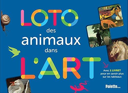 Loto des animaux dans l'art : Avec 4 plateaux, 24 cartes et 1 livret
