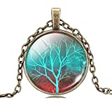 Best Amazon Collection Friends Gold Necklaces - Jiayiqi Art Tree Crystal Pendant Necklace for Friends Review