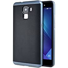 Huawei Honor 7 Funda , ivencase Prima Híbrido Anti-rasguños Marco Bumper Carcasa Doble Capa Fibra de Carbono para Huawei Honor 7